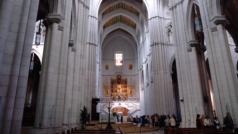 Almudena cathedral in Bateig natural stone